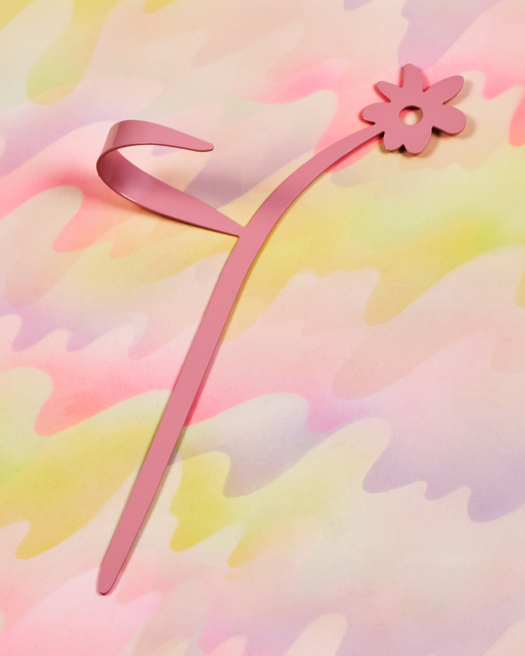 Flower Plant Stake - Pink