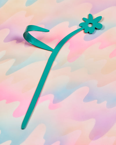 Flower Plant Stake - Green