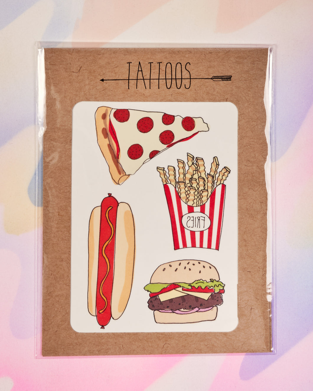 Hot Eats Temporary Tattoos