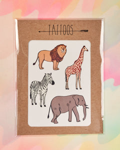 Safari Temporary Tattoos