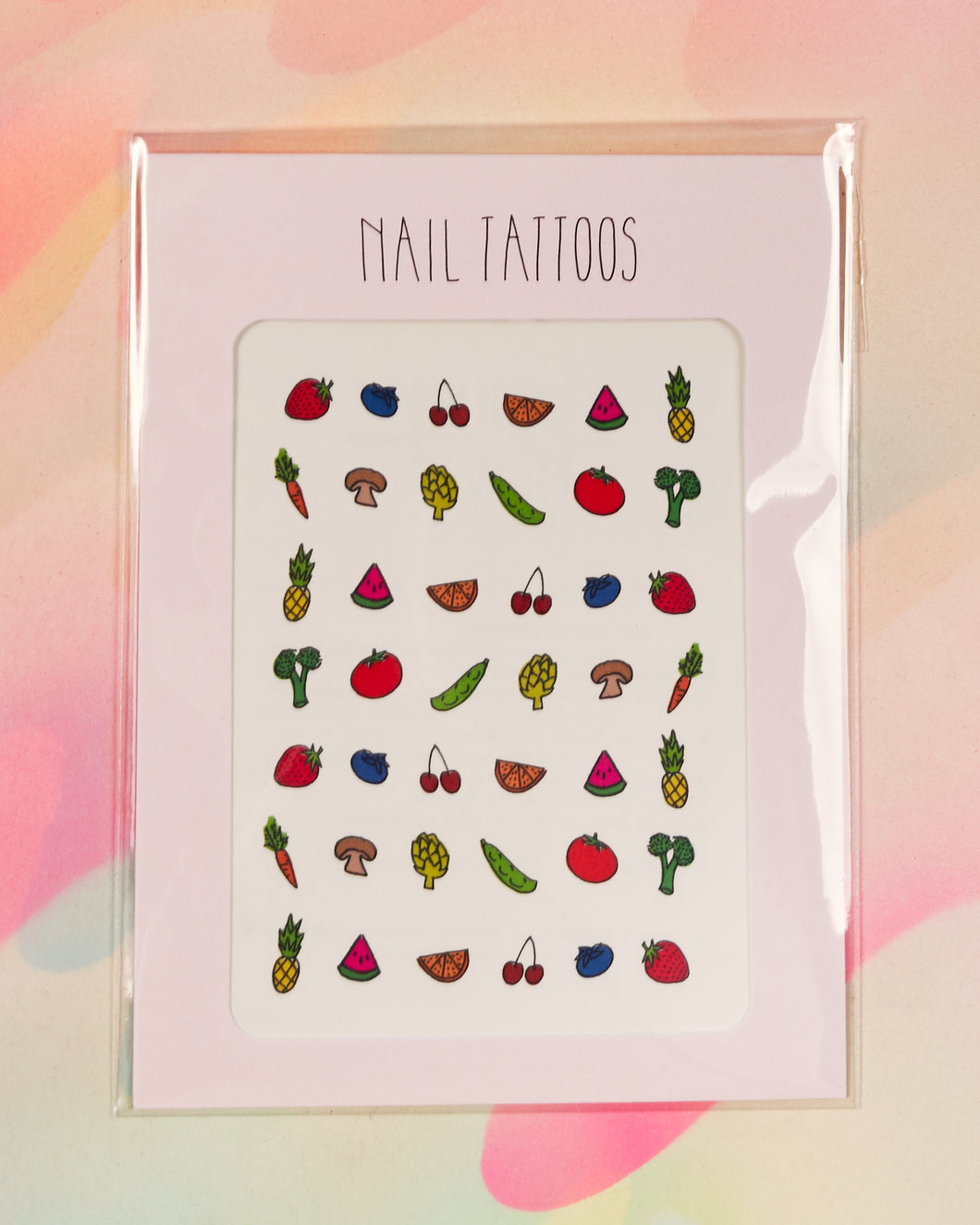 Fruit & Veggies Nail Tattoos