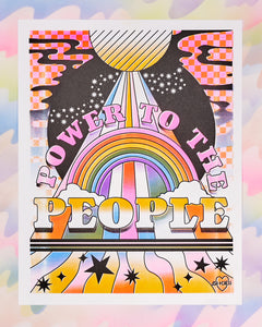 Power to the People Risograph Print