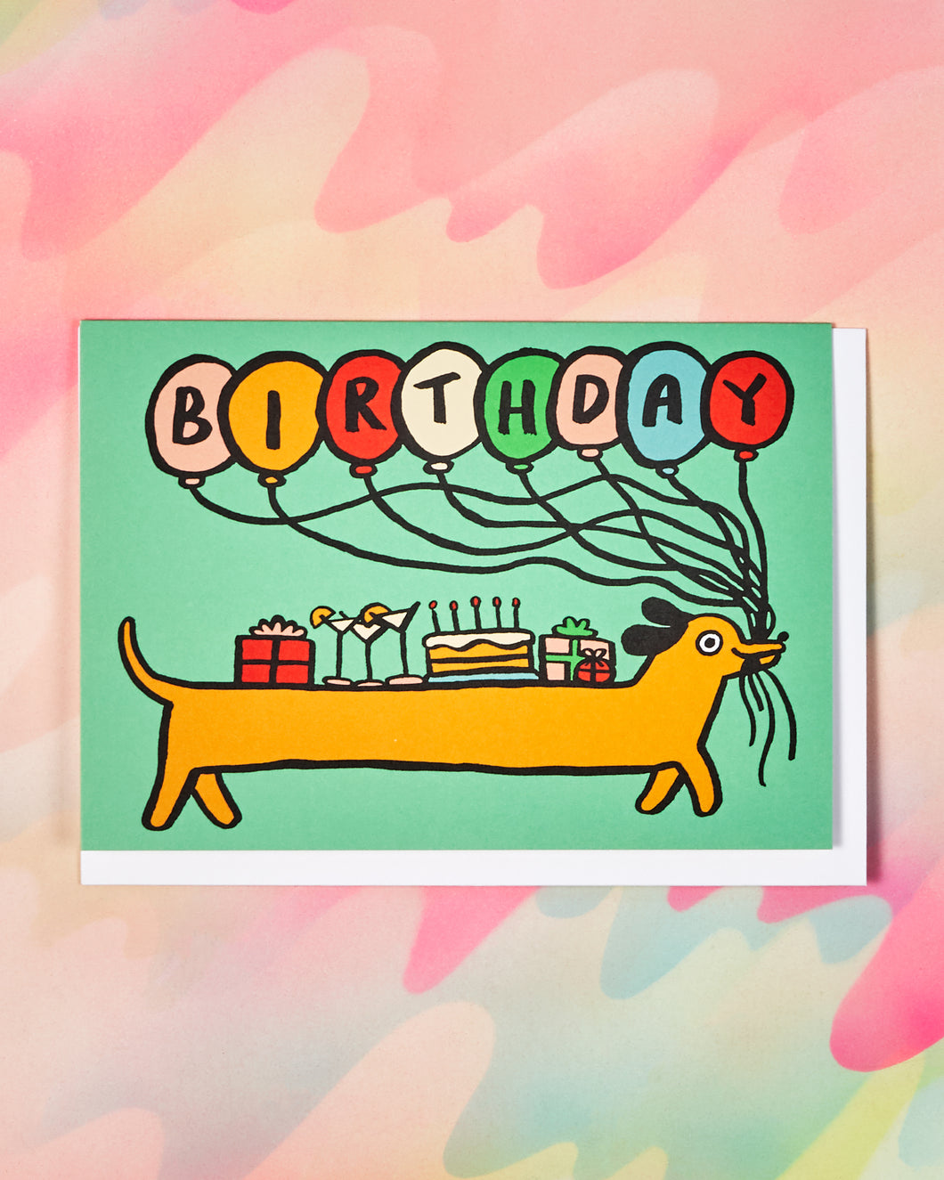Birthday Sausage Dog Card