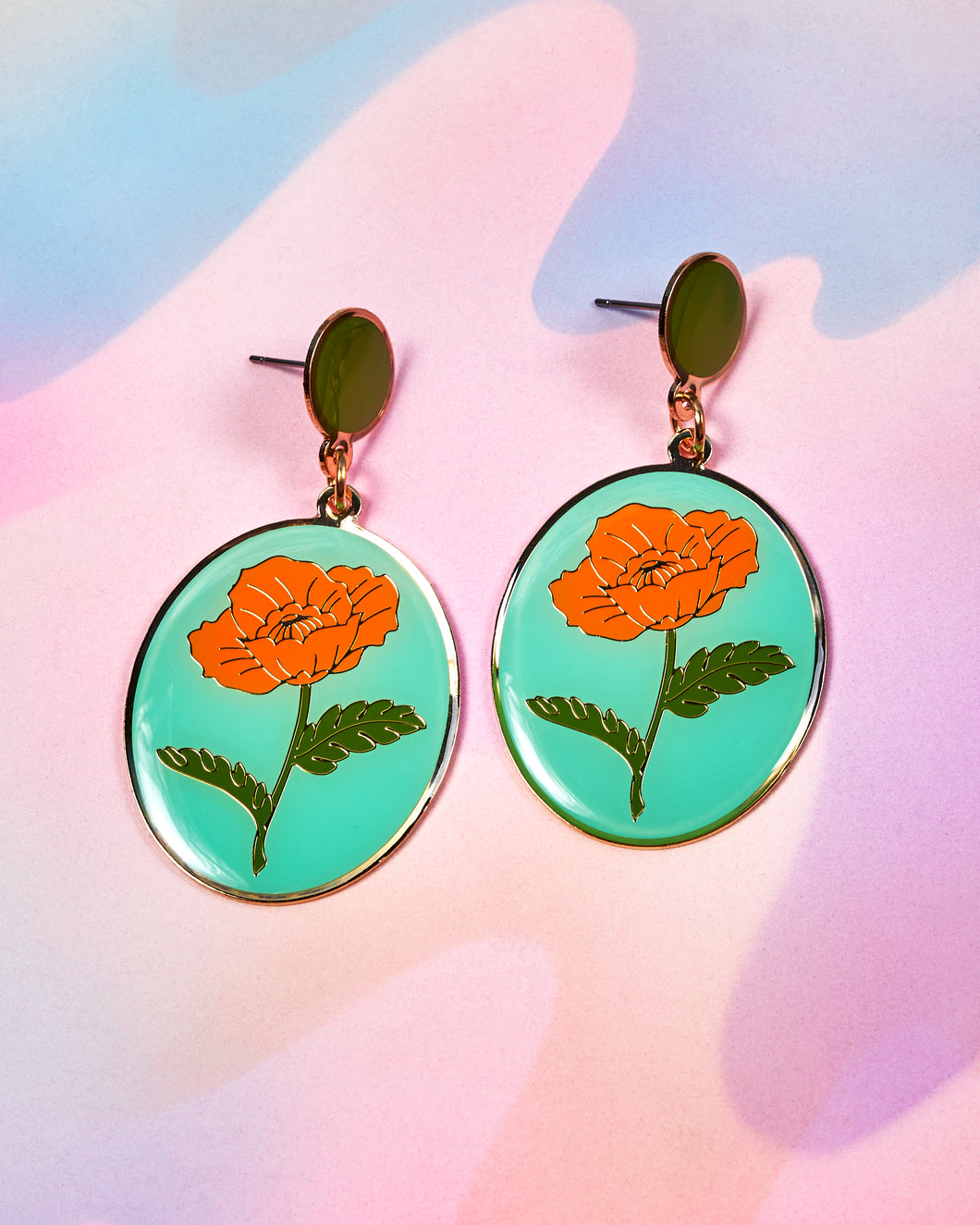 Poppy Oval Earrings