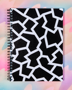 Large Black & White Fracture Notebook