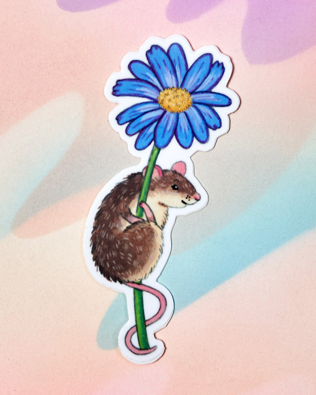 Mouse on Flower Sticker