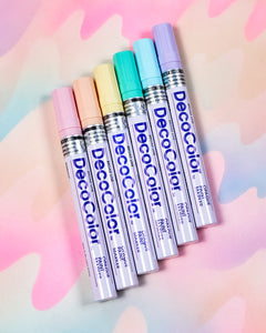 Touch Palette Paint Pen Set of 6 - Pastel