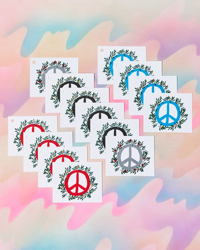 Peace Holiday Gift Tags