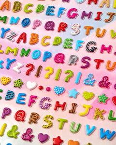 Ooly Pattern Alphabet Stickers