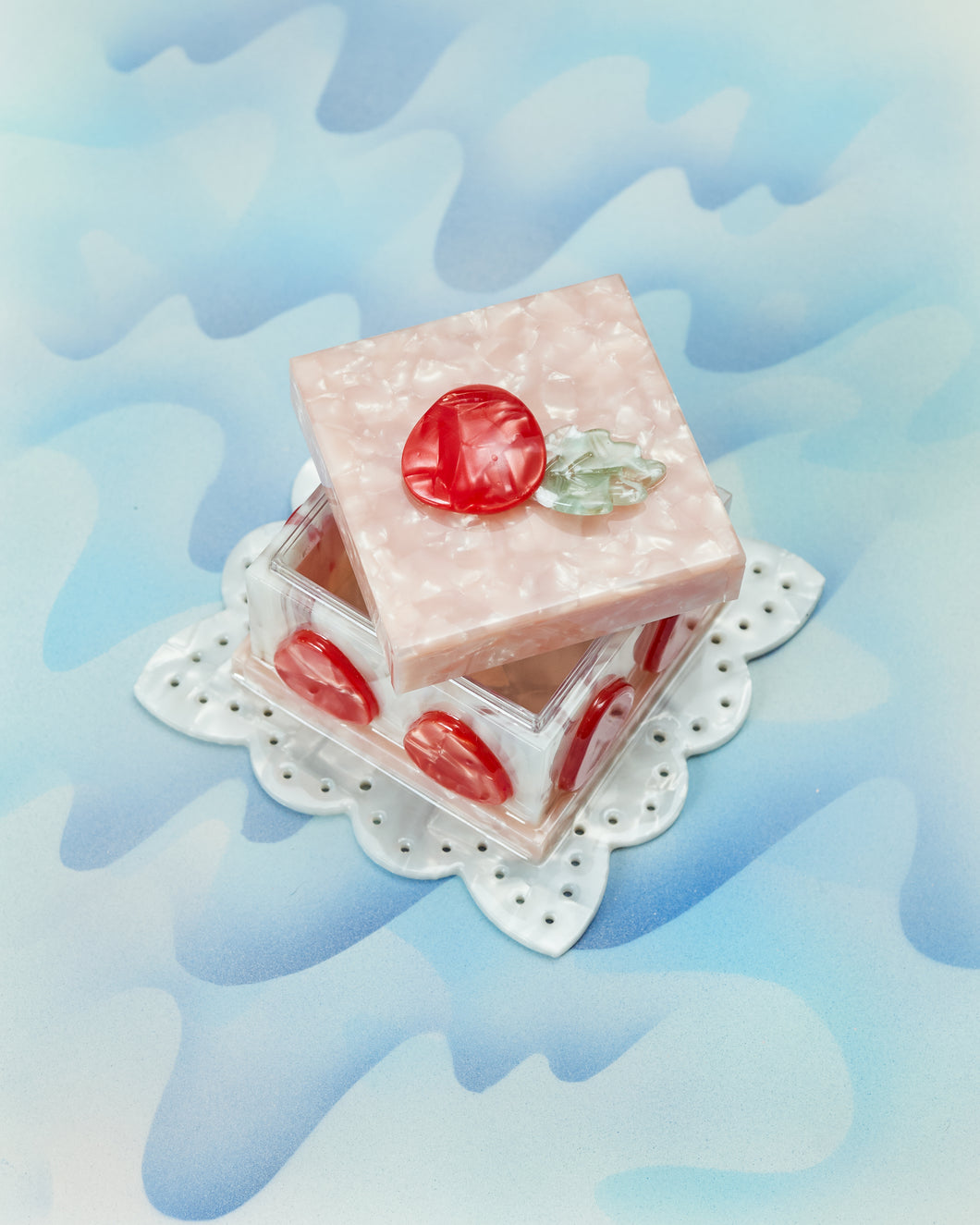 Strawberry Pastry Box