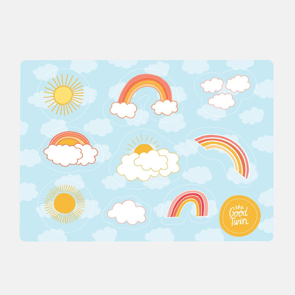 Rainbow Sticker Sheet