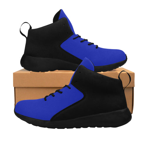 Men's Black & Blue Basketball Shoes