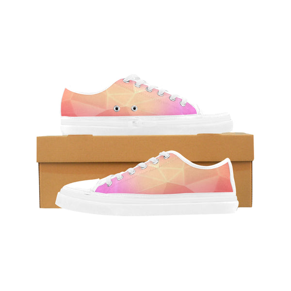 Women's Pink Fractal Nonslip Canvas Shoes - Swamp Kicks