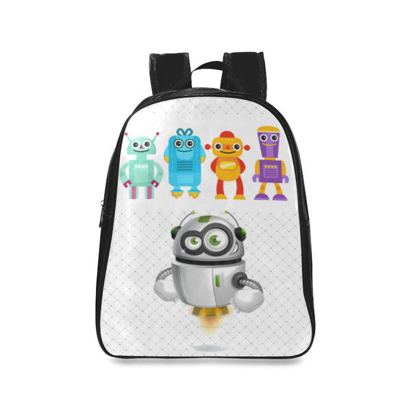 Robots 3 Kids Large Black School Backpack - Swamp Kicks