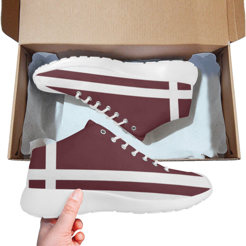 Men's Burgundy Basketball Training Shoes