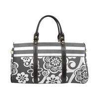 Gray Floral Stripe Travel Bag - Swamp Kicks