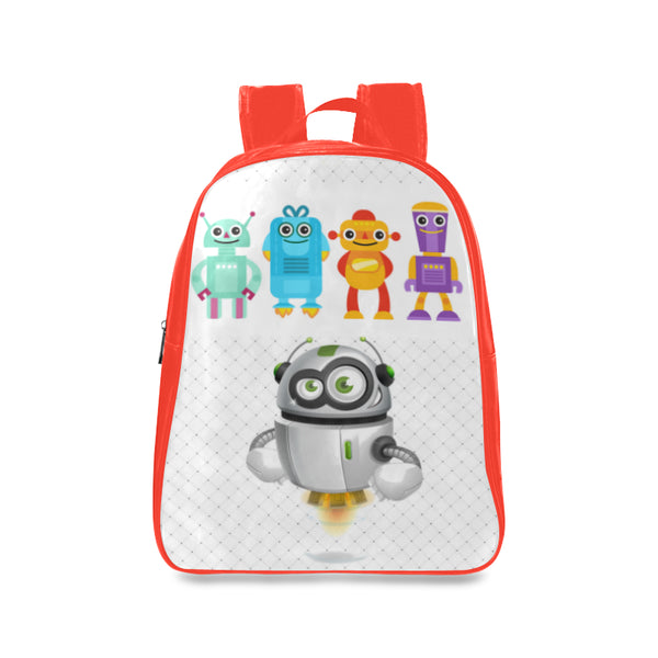 Robots 3 Kids Large Red School Backpack - Swamp Kicks