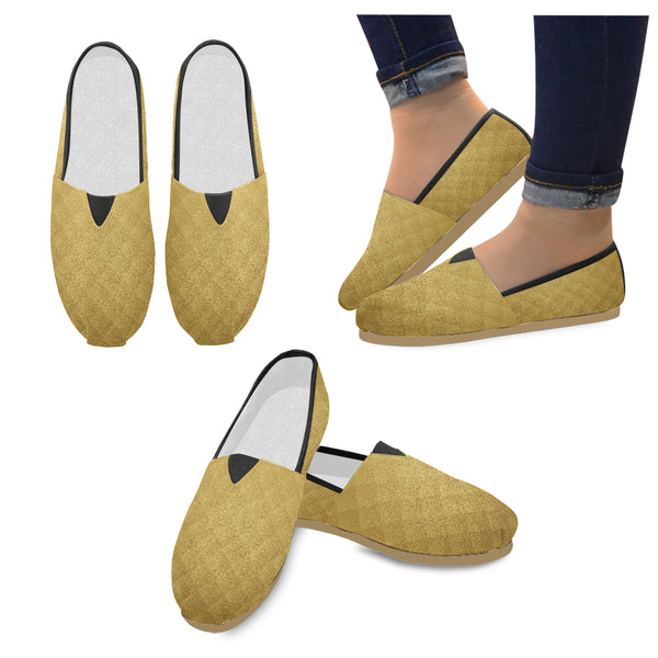 Women's Gold Glitter Casual Slip-Ons - Swamp Kicks