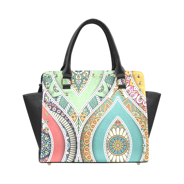 Colorful Rivet Shoulder Handbag - Swamp Kicks