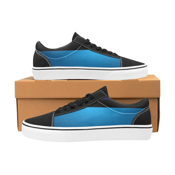 Blue Men's Lace-Up Canvas Shoes