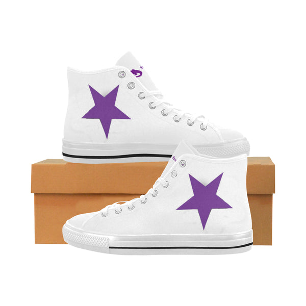 Purple Star Men's Vancouver High Top Canvas Sneakers