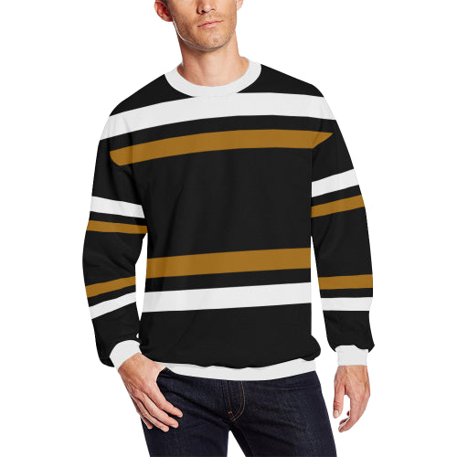 Men's Black Striped Sweatshirt
