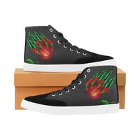 Men's Black Claw High Top Canvas Shoes - Swamp Kicks