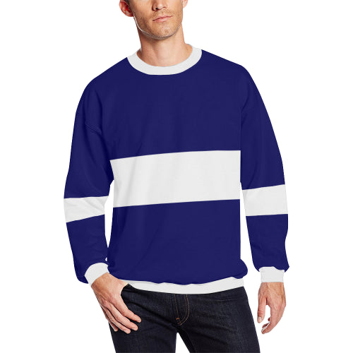 Men's Navy Print Long-Sleeve Sweatshirt