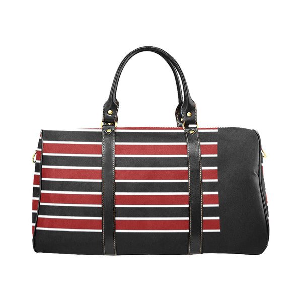 Men's Burgundy Stripe Travel Bag - Swamp Kicks