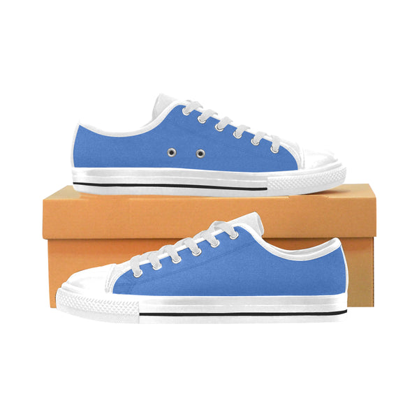 Men's Bright Blue Aquila Low top Canvas Sneakers - Swamp Kicks