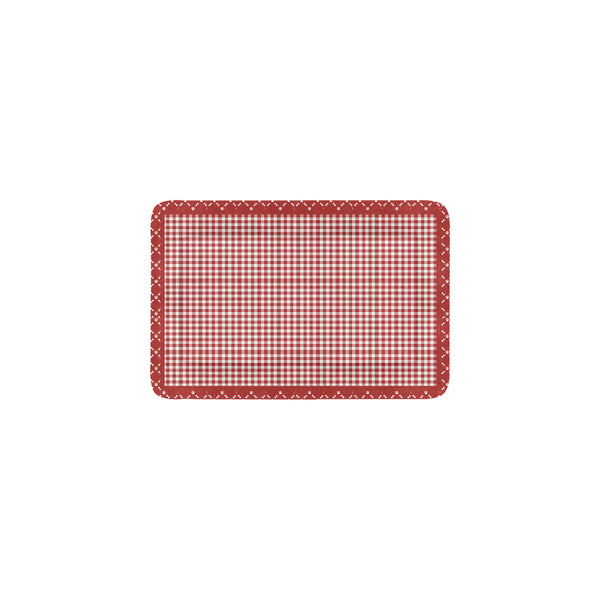 "Red Gingham Pet Pad 18"" x 12"""