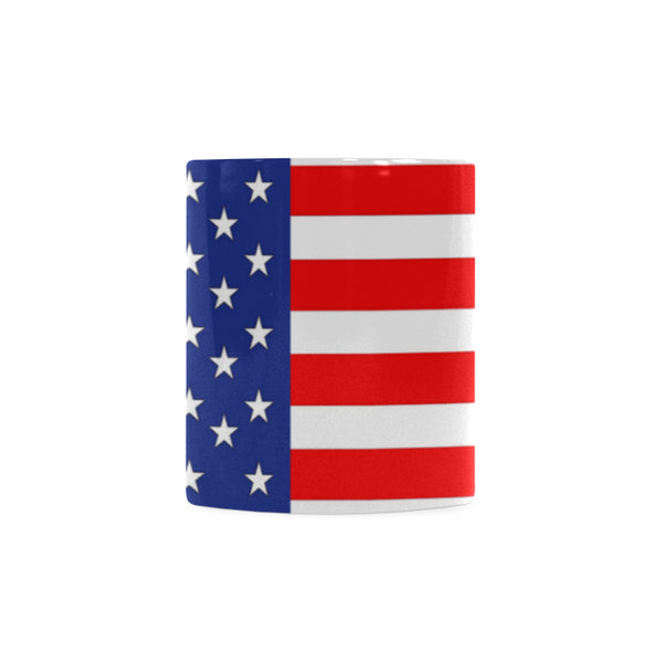 American Flag Classic White Coffee Mug 11 oz. - Swamp Kicks