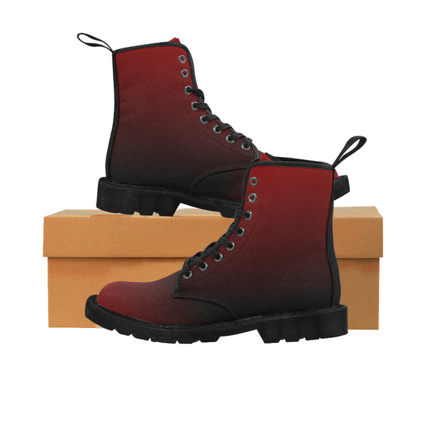 Men's Dark Berry Canvas Boots - Swamp Kicks