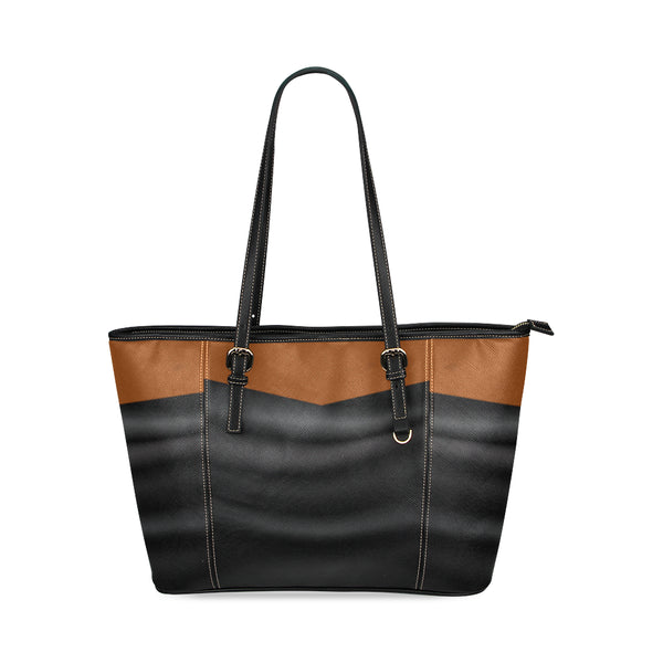 Black Leather Luxury Leather Tote Bag