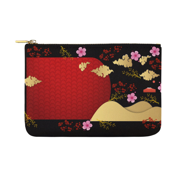 Pink Cherry Blossom Carry-All Pouch 12.5''x 8.5'' - Swamp Kicks