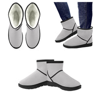 Men's Light Gray Low Top Snow Boots