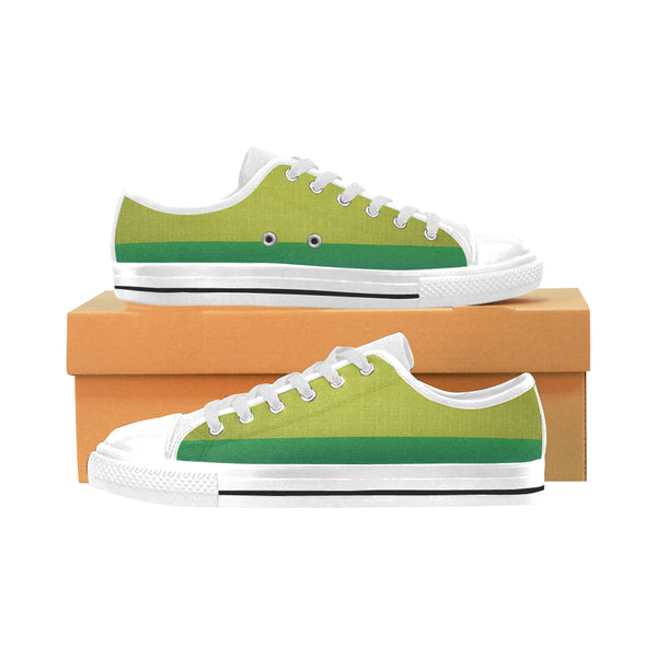 Men's Aquila Two-Tone Green Canvas Sneakers - Swamp Kicks