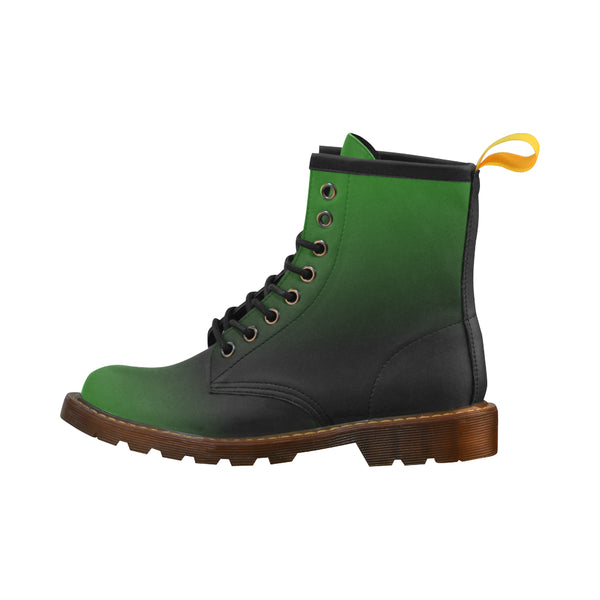 Bug Green Women's Leather Lace Up Leather Boots - Swamp Kicks