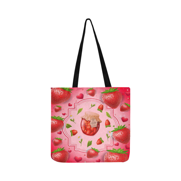 Fresh Strawberries Lightweight Reusable Shopping Tote Bag