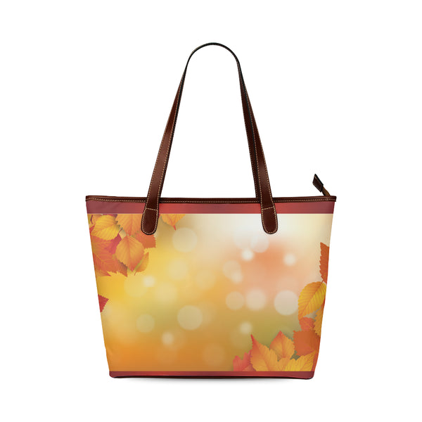 Autumn Leaves Women's Shoulder Travel Tote Bag