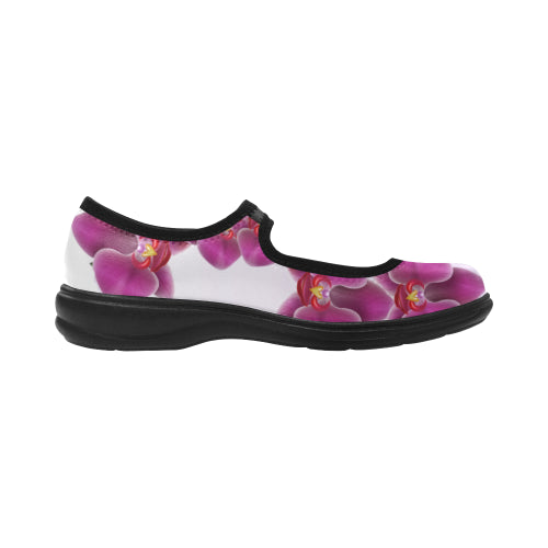 Orchids Flat Heel Mary Jane Women's Shoes