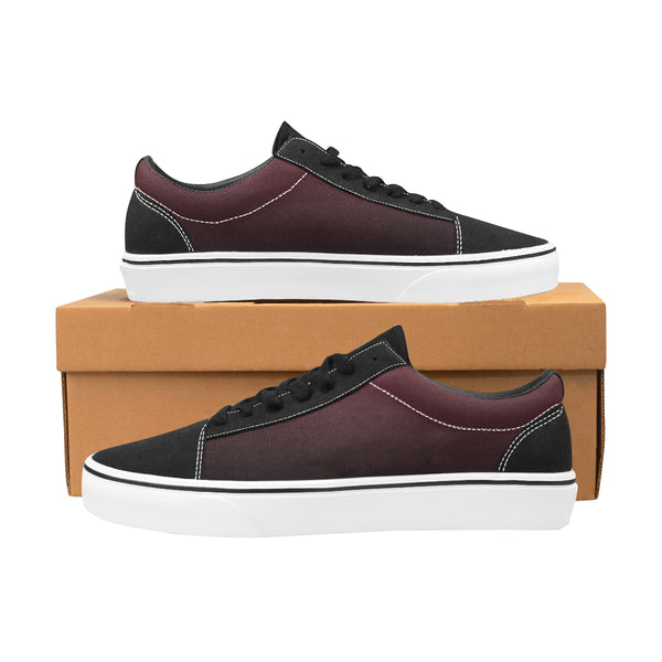 Men's Winter Plum Lace-Up Canvas Shoes