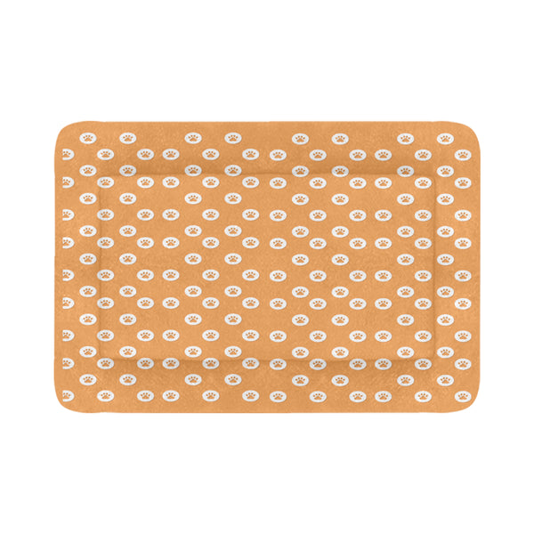 "Tan Paw Pet Pad Pet Pad 54"" x 37"""