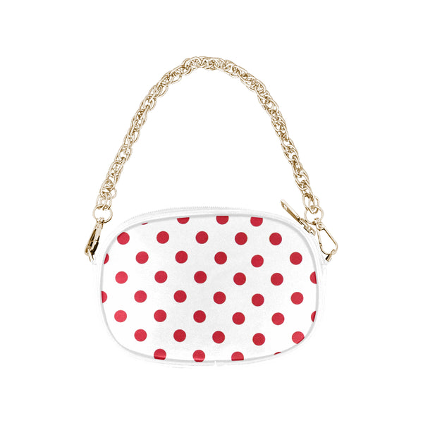 Red Dots Women's Fashion Chain Purse