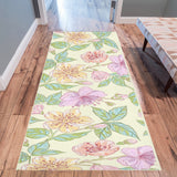 Wild Flowers Floral Rug 10 x 3 Area Rug 10'x 3'3""