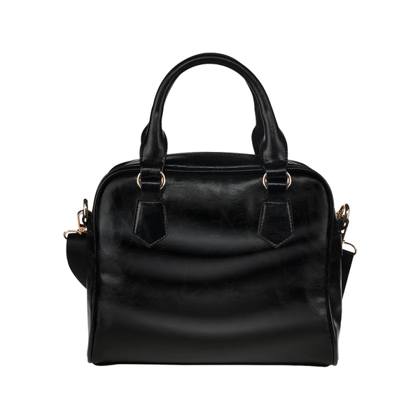 Luxury Black Satchel Shoulder Handbag
