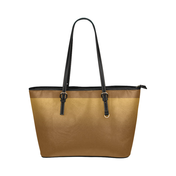 Brown Small Leather Tote Bag