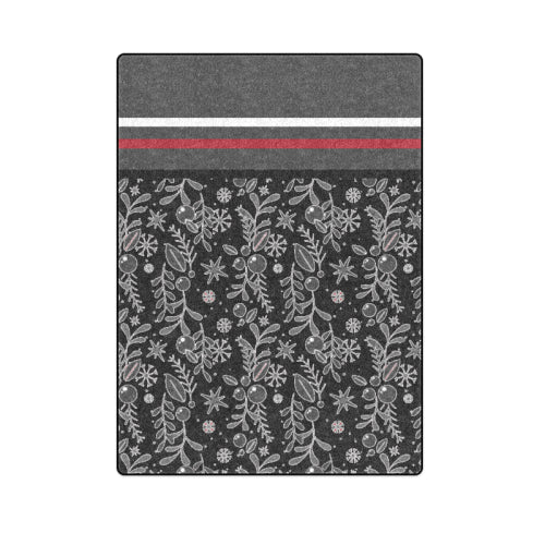 "Black Berry Bedspread Full-Size Fleece Blanket 58""x 80"""