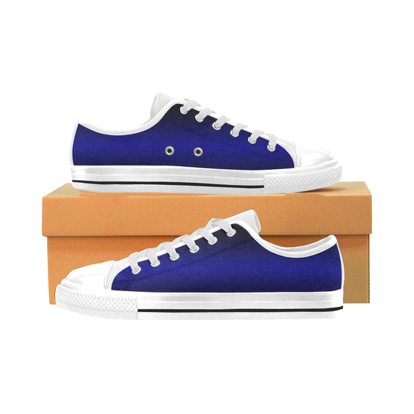 Men's Aquila Electric Blue Canvas Sneakers - Swamp Kicks