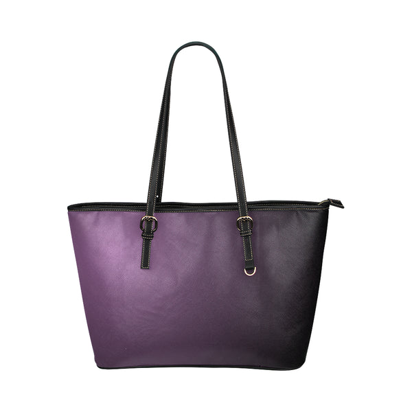 Deep Purple Leather Tote Bag - Swamp Kicks